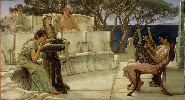 Lawrence Alma--Tadema: Sappho and Alcaeus. - Quelle: Public domain via Wikimedia.