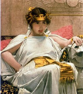John William Waterhouse: Cleopatra. Privatsammlung. Quelle: Public Domain via Wikimedia.