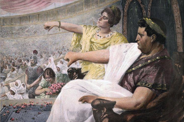 Wilhelm Otto Peters: Nero im Circus.